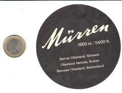 ETIQUETA DE HOTEL  -  BERNER OBERLAND  -MÜRREN -BERNE- SUIZA (SUISSE)  (CON CHARNELA ) - Hotel Labels