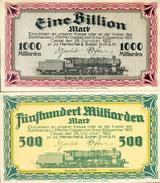 Deutschland, Germany, Henschel & Sohn - Cassel , 1,5 Billionen Mark, 1923 ! - [ 3] 1918-1933 : Weimar Republic