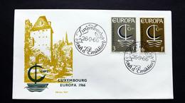 Luxemburg 733/4 FDC, ESST, EUROPA/CEPT 1966 - FDC