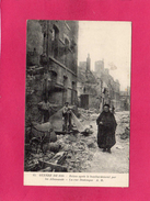 GUERRE 1914, Reims Après Le Bombardement, La Rue Destenque, Animée, (A. R.) - Guerre 1914-18