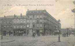 Mons - Le Monument Houzeau De Lehaie ( Friture ) Et La Gare - Feldpost - Mons