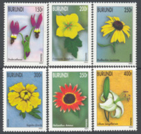 BURUNDI 2002 - Fleurs 6 V.