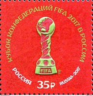 Russia, 2017, Mi. 2419, Sc. 7809, The 2017 FIFA Confederations Cup, MNH - 1992-.... Federation