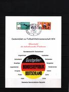 Deutschland / Germany 1974 World Football Champioship Germany  Interesting Leaflet - Coppa Del Mondo