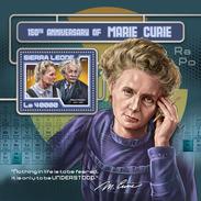 SIERRA LEONE 2017 - M. Curie, A. Einstein S/S. Official Issue.