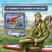 SIERRA LEONE 2017 - A. Earhart, Nikumaroro Isl. S/S. Official Issue.
