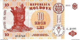 MOLDOVA 10 LEI 2013 P-10 UNC [MD110g] - Moldawien (Moldau)