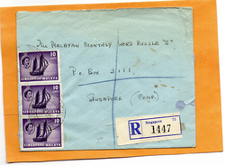 Singapore Old Registered Cover Mailed - Singapour (1959-...)