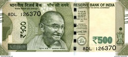 India (RBI) 500 Rupees 2016 Plate Letter E UNC Cat No. P-114b / IN303aE - India