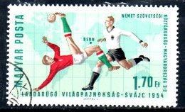 HONGRIE. N°1837 De 1966 Oblitéré. Coupe Du Monde 1954. - World Cup