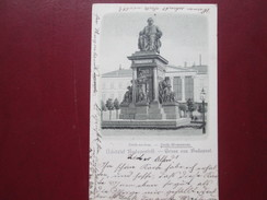 GRUSS AUS BUDAPEST .    DEAK MONUMENT - Hungary