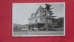 RPPC   Florence Gill Memorial Odd Fellows Home Of Vermont Ludlow  - Vermont --- Ref 2574 - United States