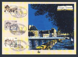Belgie Belgique Belgium 1994 Joint Issue - Georges Simenon (1903-1989) Belgian Writer / écrivain / Schriftsteller - Schrijvers