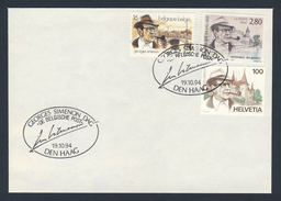 1994 Joint / Gemeischaftsausgabe - Belgium - France - Switzerland - Georges Simenon - Gezamelijke Uitgaven