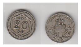 20 CENT 1919 - 1900-1946 : Victor Emmanuel III & Umberto II