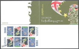 Georgie - Georgia 2005 Yvert C409a, Europe - The Integration - Booklet - MNH - Georgia