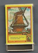 NL.- Harderwijk. Molen Lucifers  210 - Stellingmolen - De Hoop - Luciferdoosje - Matchbox. 2 Scans - Luciferdozen