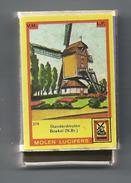 NL.- Boekel. Molen Lucifers  219 - Standerdmolen - Luciferdoosje - Matchbox. 2 Scans - Luciferdozen