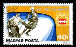HONGRIE. N°2472 De 1975 Oblitéré. J.O. D'Innsbruck/Hockey Sur Glace.