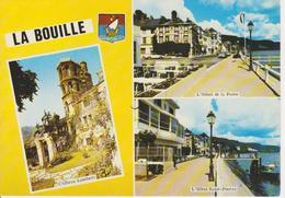 76 LA BOUILLE  - MULTIVUES AVEC BLASON - HOTELS ST PIERRE ET DE LA POSTE - La Bouille