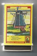 NL.- Workum. Friesland. Molen Lucifers  254 - Poldermolen - Ybema's Molen - Luciferdoosje - Matchbox. 2 Scans - Luciferdozen