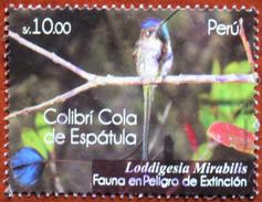 FREE POSTAGE!! Peru 2011 Hummingbird, Colibri, Birds, Vögel, Oiseaux, Uccelli, Aves, Fauna 1v Part, Used, Gestempelt, Ex