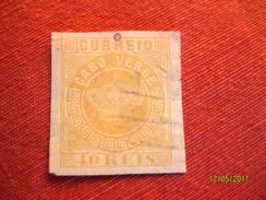 Cap Vert: 40 Reis 1881 (non Dentelé) - Cap Vert