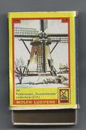 NL.- Leiderdorp. Molen Lucifers  284 - Poldermolen - Doeshofmolen - Luciferdoosje - Matchbox. 2 Scans - Luciferdozen