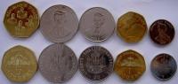 REPUBLICA  D'HAITI SERIE 5 MONETE 5-1 GOURDES 50-20-5 CENTES FDC - Haiti