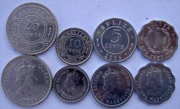 BELIZE SERIE 4 MONETE 25-10-5-1 CENT - Belize
