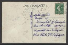 Postkaart Verstuurd Uit Céré (Frankrijk)  Naar Onbezet België