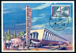 BE   1049  CM / Carte Maximum  ---   EXPO 58  --  Pavillon Congo Et...l  --  Oblitération 1er Jour - 1958 – Brussels (Belgium)