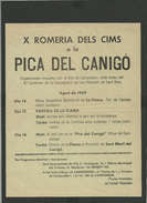 Programme Aout 1969 Flamme Du Canigou - Canigo - Camprodon - Programmi