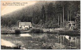 88 BRYUYERES-en-VOSGES - Maison Forestière Et étang Des Huttes   (Recto/Verso) - Bruyeres