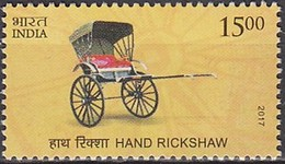 2017 INDE India Hand Rickshaw ** MNH . . . . [ec89] - Verkehr & Transport