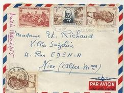 GUINEE . LETTRE DE KINDIA A NICE - A.O.F. (1934-1959)