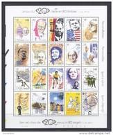 Belgie - Belgique Blok 83 - Reis Door De 20ste Eeuw -   Kuifje - Tintin - Hergé 1999 - AAN FACIALE WAARDE - Blocs 1962-....
