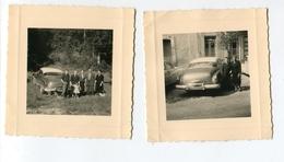 """PHT6 Lot De 2 Photos Format 9x8 Ctm Automobile à Identifier, Sur La Malle On Peut Lire """"super"""" - Cars"""