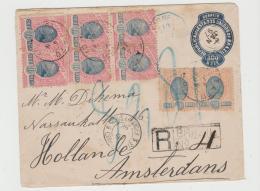 Bra153 / BRASILIEN .-  Ganzsache 1897, Aufgewertetes Einschreiben Nach Amsterdam - Lettres & Documents