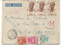 GUINEE . LETTRE  DE PITA POUR NICE . TAXEE - Lettres & Documents