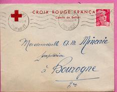 Lettre Du Comité De Belfort De La Croix Rouge Française Pour Bourogne - 1946 - Croix-Rouge