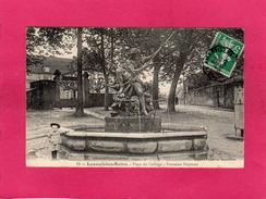 70 HAUTE SAONE, LUXEUIL LES BAINS, Place Du Collège, Fontaine Neptune, Animée, (Payen Et Poulaillon) - Luxeuil Les Bains