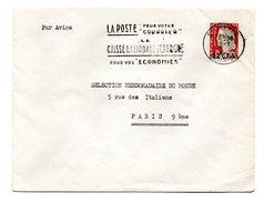 RÉUNION = SAINT PIERRE 1964 = FLAMME SECAP  ´ POSTE Pour Votre COURRIER / CAISSE EPARGNE économies´ Sur N° Yvt 350