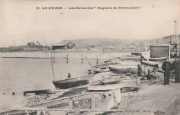 """Le Havre  -RARE -  Les Bains Des  """" Nageurs De Normandie """"- Scan Recto-verso - Le Havre"""