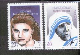 CEPT Berühmte Frauen / Famous Women Makedonien 74 - 75 ** Postfrisch, MNH, Neuf - Europa-CEPT