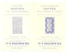 Calendrier De Poche 1951 Ets Vve S. GUILLON & Fils à Bruxelles - Tapis, Nattes En Fibre De Coco  (k) - Calendriers