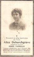 DP.ALICE DEBURCHGRAVE ° ZANDVOORDE 1893 - + GHISTEL 1932 - Religion & Esotérisme