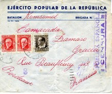 GUERRA CIVIL 1937  BATALLON KOMSOMOL EJERCITO POPULAR Desde CASPE Hasta Francia Ref EL558