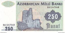 AZERBAIJAN 250 MANAT ND (1992) P-13 UNC  [AZ303a] - Azerbaïjan