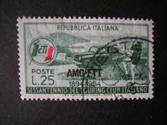 TRIESTE - AMGFTT. 1954, Touring Club It., Usato, TB - Gebraucht